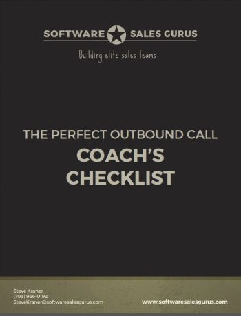 perfect outbound call coach's checklist -Software Sales Gurus