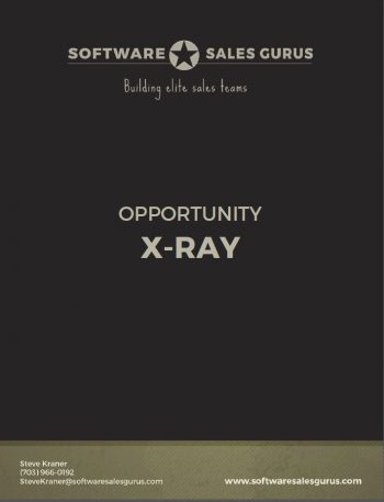 opportunity x-ray -Software Sales Gurus