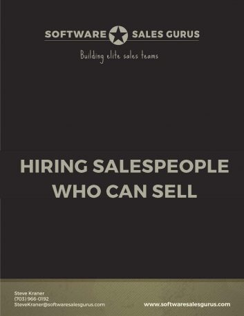 Hiring salespeople who can sell